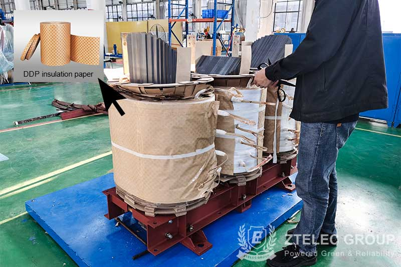 Delivery of ddp diamond dotted insulation paper for Vietnam
