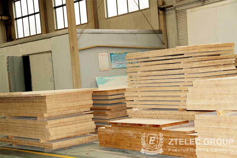 Densified wood parts for transformer