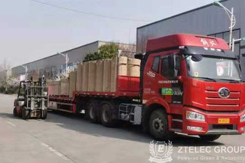 50 tons of diamond dotted paper and DMD insulating paper delivered to Philippines